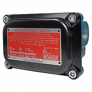 Rotary, Roller Lever Explosion Proof Limit Switch; Location: Top, Contact Form: 2NC/2NO, CW Movement