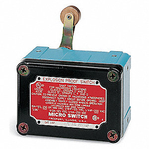 Rotary, Roller Lever Explosion Proof Limit Switch; Location: Top, Contact Form: 1NC/1NO, CCW Movemen