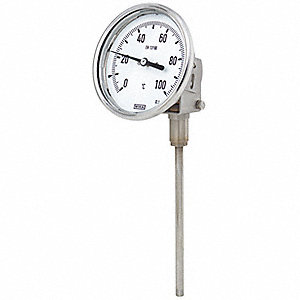 GAUGE TEMP 3IN 0-250F 4IN STEM