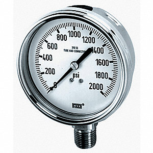 GAUGE PRESSURE 0-15000PSI 4IN