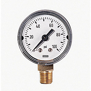 GAUGE PRESSURE 0-100PSI 2-1/2IN