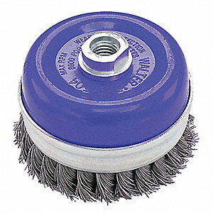 5IN 5/8-11 ST ST CUP BRUSH