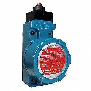 Explosion Proof Limit Switch, 600VAC/250VDC Voltage Rating, 10 Amps, Top Actuator Location