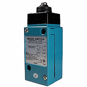 Plunger Heavy Duty Limit Switch; Location: Top, Contact Form: 2NC/2NO, Linear Movement