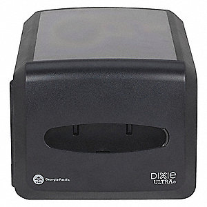 Countertop-Mount Interfold Napkin Dispenser, Dixie Ultra®, 500 Capacity, Black