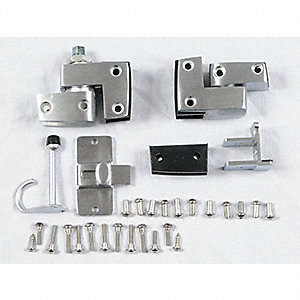 "Inswing Slide Latch Door Hardware for Phenolic Partition, 3-1/4""H x 3-1/4""W x 5-1/2"" Thickness"