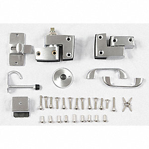 GLOBAL PARTITIONS Outswing Slide Latch Door Hardware For Phenolic - Bathroom partition slide latch