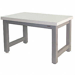 "Workbench, Laminate, 30"" Depth, 30"" Height, 60"" Width, 20,000 lb. Load Capacity"