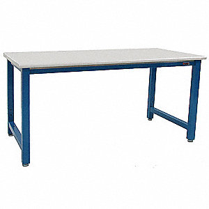 "Ergonomic Workbench, 72"" Length, 30"" Width, Formica(TM) Plastic Laminate"