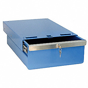 Drawer,14-1/2 W x 20 D x 4 in. H,Blue