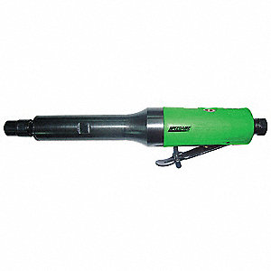 "Rear Exhaust Extended Straight Air Die Grinder, 1/4"" Collet, 25,000 rpm Free Speed, 0.3 HP"
