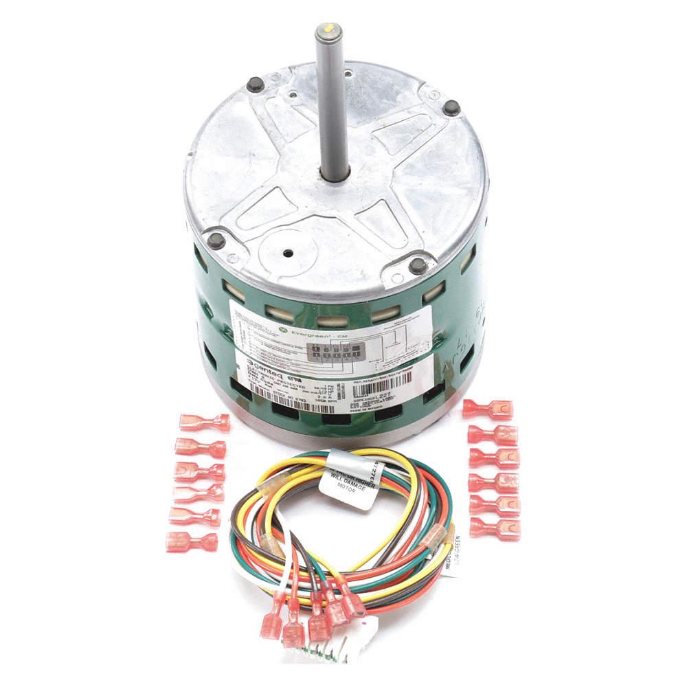 1/3 HP ECM Direct Drive Blower Motor,ECM,1050 Nameplate RPM,208-230/277  Voltage,Frame 48