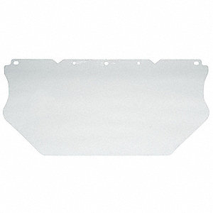 Visor,Clear,Polycarbonate,17InW,7-1/2InH