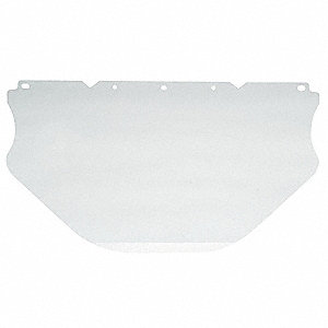 Visor,Clear,Polycarbonate,17InW,9-1/2InH