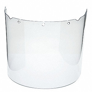 Visor,Clear,Propionate,17InW,8InH