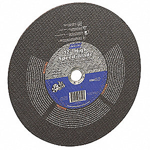 "16"" Type 1 Aluminum Oxide Abrasive Cut-Off Wheel, 20mm Arbor, 0.125""-Thick, 4710 Max. RPM"