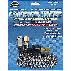 MANUAL LANYARDVLVE 1/4IN O.D FTTNGS
