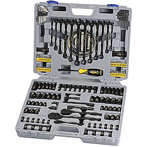 TOOL KIT BLACK CHROME 155PCE