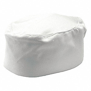 "Pillbox Chef Hat, White, 20"" to 22"""