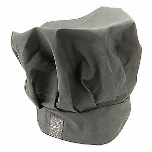 Medium Crown Chef Hat, Black, One Size Fits All