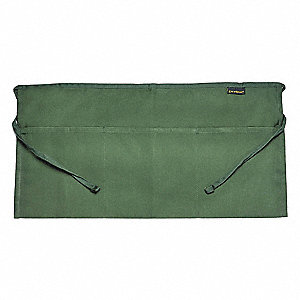 "24"" x 12"" Waist Apron, Hunter Green, One Size Fits All"