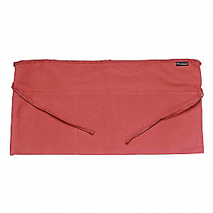 "24"" x 12"" Waist Apron, Red, One Size Fits All"