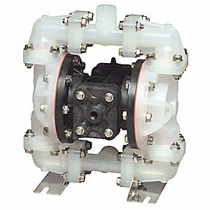 Polypropylene Santoprene® Single Double Diaphragm Pump, 14 gpm, 100 psi