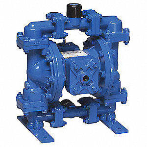 Aluminum Buna Multiport Double Diaphragm Pump, 15 gpm, 100 psi