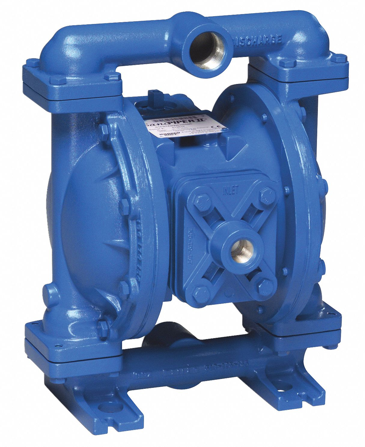 Double Diaphragm Pump,  45 gpm Max. Flow,  Buna N,  Single Manifold Connection,  1 in
