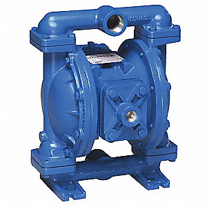 Aluminum Santoprene® Single Double Diaphragm Pump, 45 gpm, 125 psi