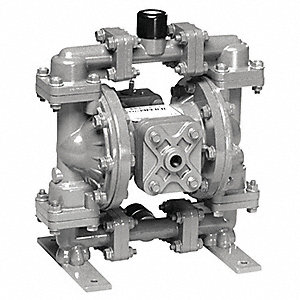 Stainless Steel PTFE - Santoprene Backup Multiport Double Diaphragm Pump, 15 gpm, 100 psi