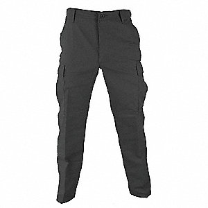 "Men's Tactical Pants. Size: XL, Fits Waist Size: 39"" to 42"", Inseam: 29-1/2"" to 32-1/2"", Dark Gray"