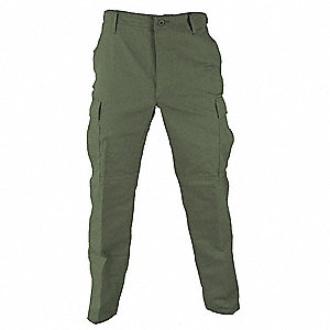 "Men's Tactical Pants. Size: 2XL, Fits Waist Size: 43"" to 46"", Inseam: 32-1/2"" to 35-1/2"", Olive"