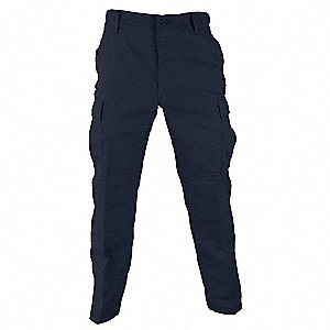 "Men's Tactical Pants. Size: 2XL, Fits Waist Size: 43"" to 46"", Inseam: 32-1/2"" to 35-1/2"", Dark Navy"