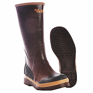 Insulated Boots,Knee,Rubber,8D,PR