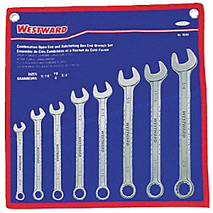 WRENCH COMB SET STAINLESS 8PC MET