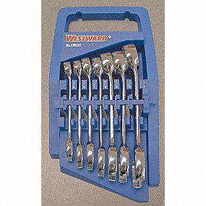 WRENCH SET SAE STUBBY 8 PC