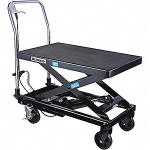 TABLE SCISSOR-LIFT 600LB CAP