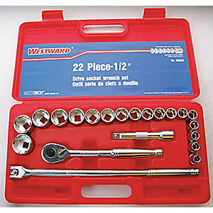 SOCKET SET MET/IN 1/2DRV 22 PCE