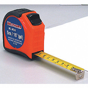 TAPE MEASURING 16FT X 3/4IN ORANGE