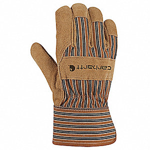 Cowhide Leather Driver's Gloves, Brown, S