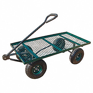 "Wagon Truck, 400 lb. Load Capacity, Pneumatic Wheel Type, 10"" Wheel Diameter"