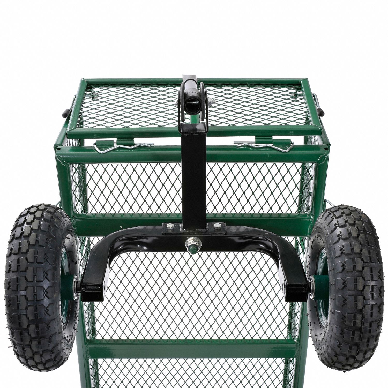 Gartenwagen Rollarbeitssitz Gartenwagenhocker-Gr/ün mit Backup