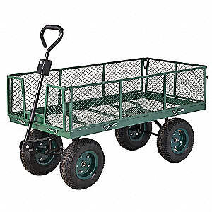 "Wagon Truck, 1000 lb. Load Capacity, Pneumatic Wheel Type, 13"" Wheel Diameter"