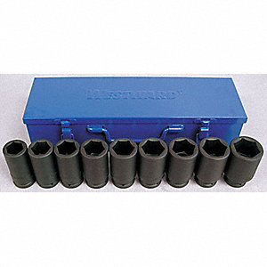 SOCKET SET IMPACT DEEP 3/4IN DR 10P
