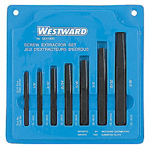 EXTRACTOR SCREW SET 7 PCE