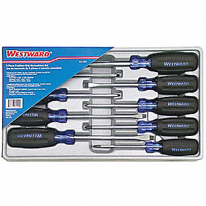 KIT SCREWDRIVER CUSHION GRIP 9PC