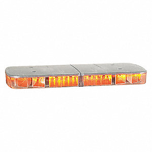 Amber Mini Lightbar, LED Lamp Type, Permanent Mounting
