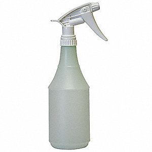 Green/Clear Polyethylene Trigger Spray Bottle, 24 oz., 3 PK