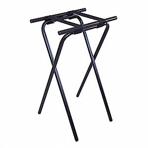 DELUXE STEEL TRAY STAND, BLACK